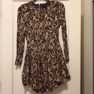 High Low Dress, fall colors